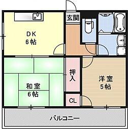 FORUM祇園[102号室号室]の間取り