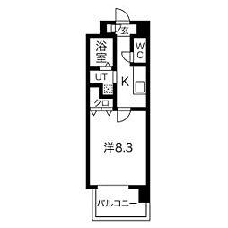 NORITAKE RISE(則武ライズ) 9階1Kの間取り