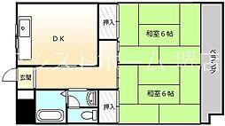 サンライフ堺[3階]の間取り