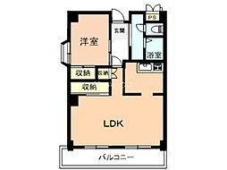 埼玉県上尾市緑丘2丁目の賃貸マンションの間取り