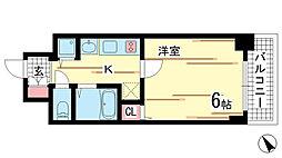 兵庫県神戸市中央区琴ノ緒町2丁目の賃貸マンションの間取り