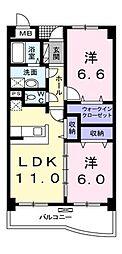 埼玉県志木市幸町4丁目の賃貸マンションの間取り