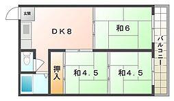 シャトー三ツ島[5階]の間取り