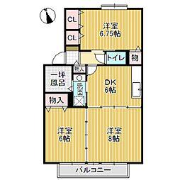 ラ・ビュー参番館[2階]の間取り