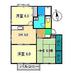 森田ハイツ C棟[1階]の間取り