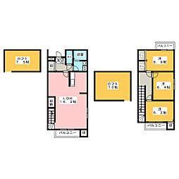 クランベリー・ハウス[1階]の間取り