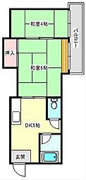 マンション・サンエース[4階]の間取り