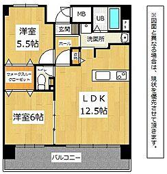 ピ−スフルハイム行事[5階]の間取り