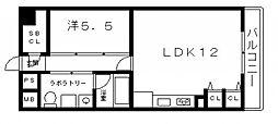 アクアプレイス四天王寺[3階]の間取り