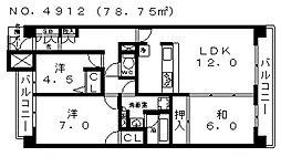ステイツ阿倍野晴明丘[3階]の間取り