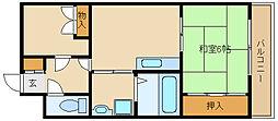 兵庫県尼崎市次屋3丁目の賃貸マンションの間取り