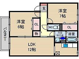 コート東参道[2階]の間取り