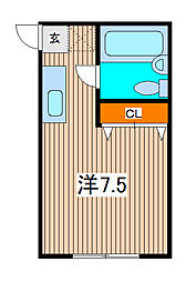 キャピタル北浦和[2階]の間取り