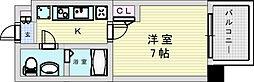 阪急宝塚本線 三国駅 徒歩5分の賃貸マンション 11階1Kの間取り