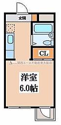 シャトール源氏ヶ丘[4階]の間取り