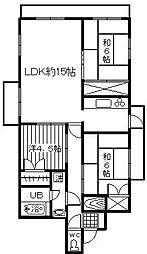 ライオンズマンション博多[5階]の間取り