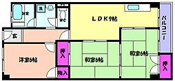 兵庫県神戸市東灘区魚崎西町3丁目の賃貸マンションの間取り