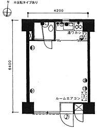 日東ハイツ[8階]の間取り