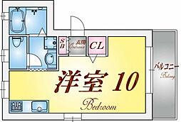 兵庫県神戸市長田区水笠通5丁目の賃貸アパートの間取り