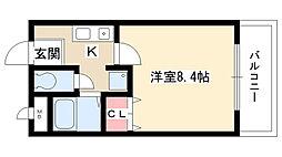 愛知県名古屋市天白区池見2丁目の賃貸アパートの間取り