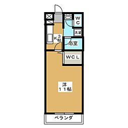 メゾン・プラクティス[4階]の間取り