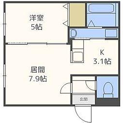 フレンズ菊水[2階]の間取り
