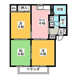 フラワーガーデンC[1階]の間取り