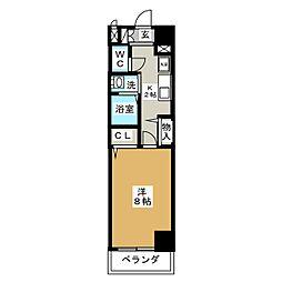 クレド桜山[9階]の間取り