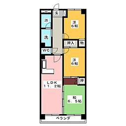 サプリーム新舞子[4階]の間取り