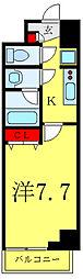 JR埼京線 板橋駅 徒歩5分の賃貸マンション 6階1Kの間取り