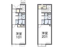 レオネクスト成田参道[1階]の間取り