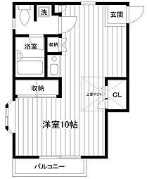 弘明寺公園弐番館[2階]の間取り