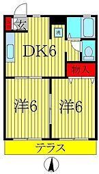 シャイン21[1階]の間取り