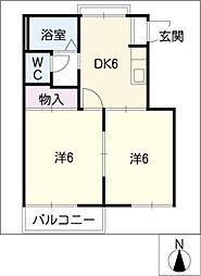 フレグランス砂田A棟[1階]の間取り