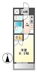 愛知県名古屋市中川区八熊2丁目の賃貸マンションの間取り