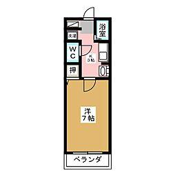 愛知県尾張旭市印場元町3丁目の賃貸アパートの間取り