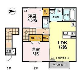 仮)WIT新井田西1丁目[2階]の間取り