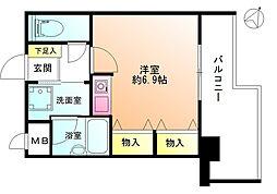 レクセルプラザ鶴川[2階]の間取り