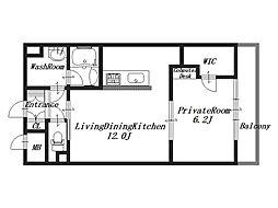 リーガパレス[4階]の間取り
