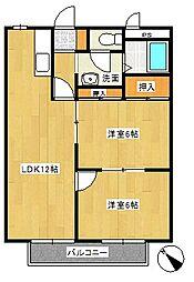 シティハイツSUZUKI3[2階]の間取り