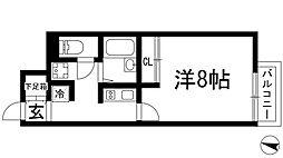 兵庫県宝塚市山本東3丁目の賃貸アパートの間取り