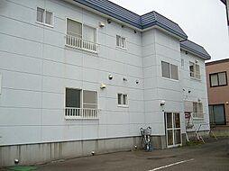 北海道札幌市清田区里塚三条3丁目の賃貸アパートの外観