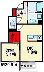 スフェール823 B棟[105号室]の間取り