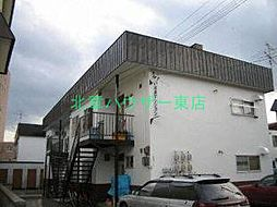 北海道札幌市東区北二十二条東23丁目の賃貸アパートの外観