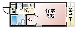 ワコーレフット篠原[5階]の間取り