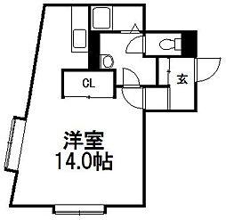 ハビタ栄通[4階]の間取り