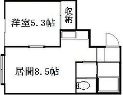 北海道札幌市豊平区月寒東二条19丁目の賃貸アパートの間取り