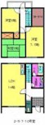 [テラスハウス] 大阪府岸和田市箕土路町2丁目 の賃貸【大阪府 / 岸和田市】の間取り