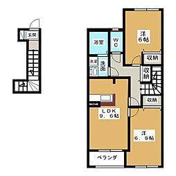 サンコート[2階]の間取り