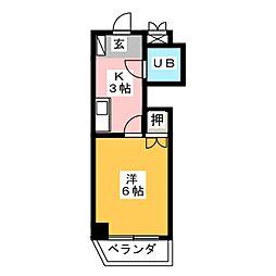 愛知県名古屋市名東区牧の里1丁目の賃貸アパートの間取り